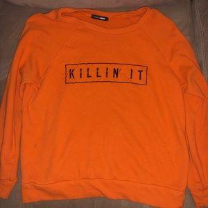 Orange causal sweatshirt